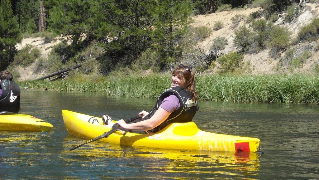Suzi starting our kayak ride