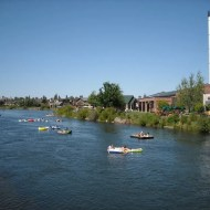 The Deschutes running through Bend's Old Mill district