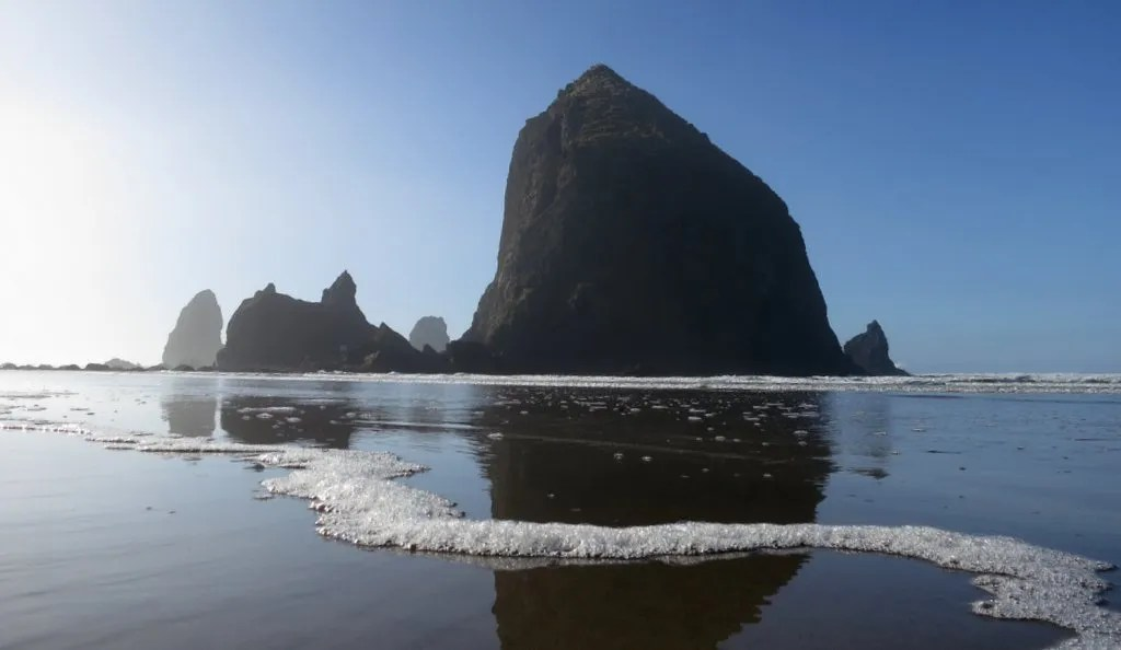 Headed back to Haystack Rock to see the tidal pools at low tide
