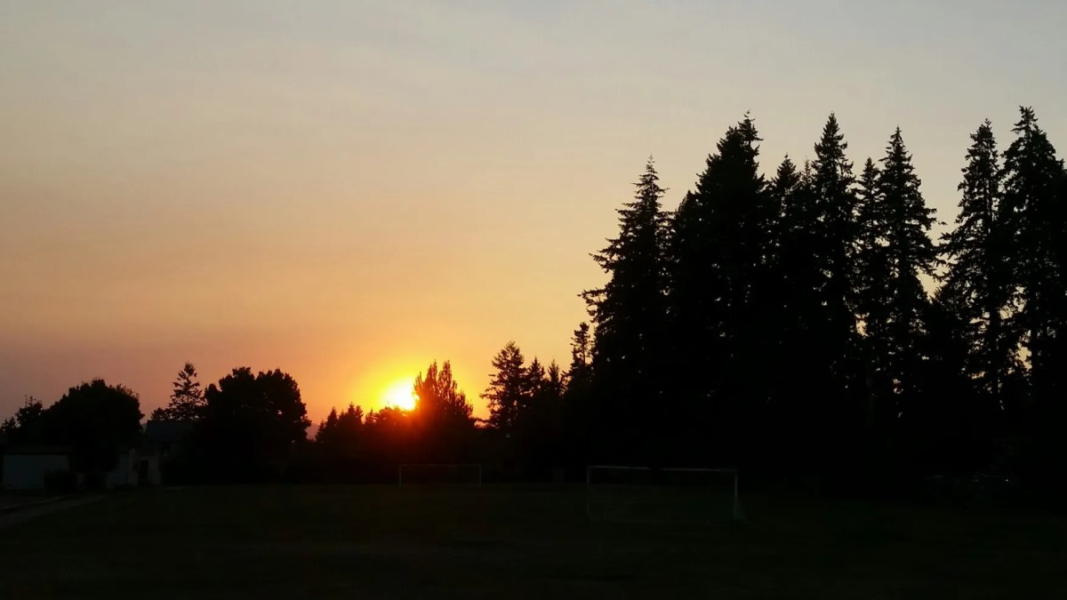 Jackson School Sunset