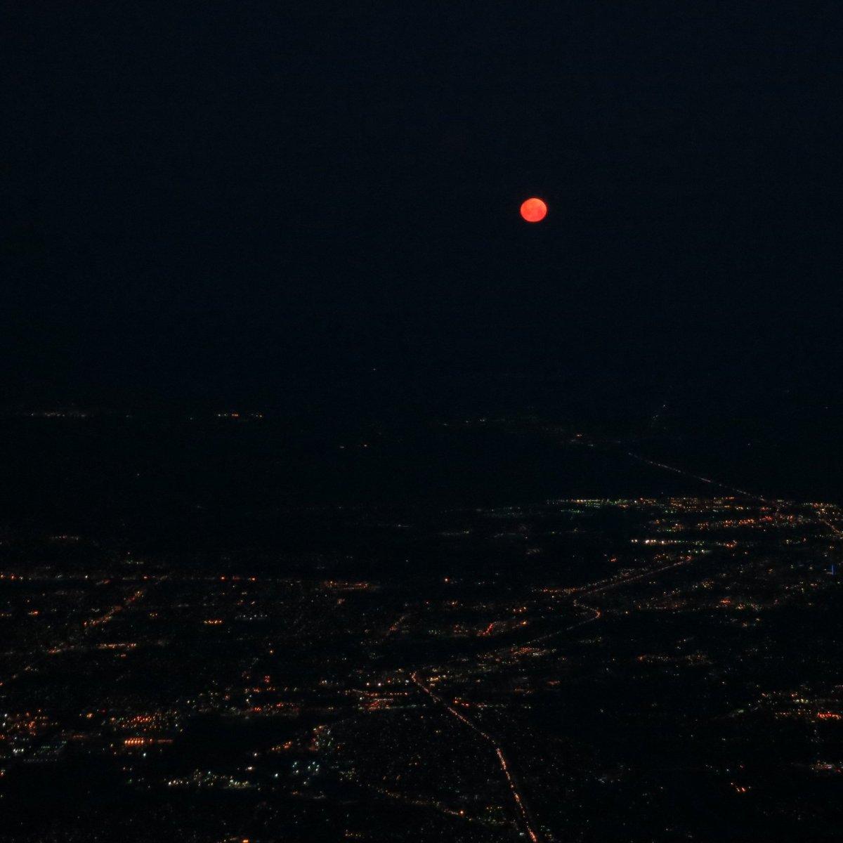 Red moon over Sacramento