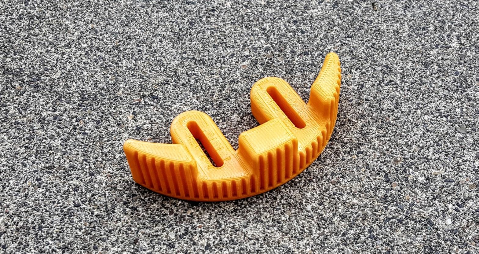 3D printed longboard footstop