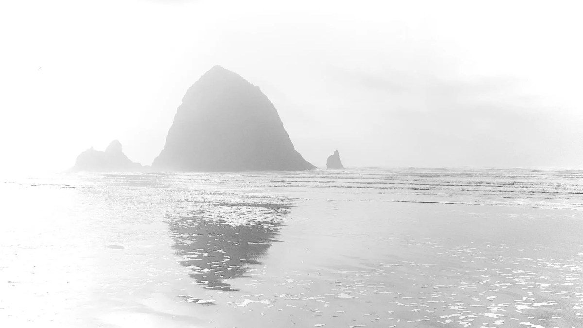 Haystack Rock in the Mist