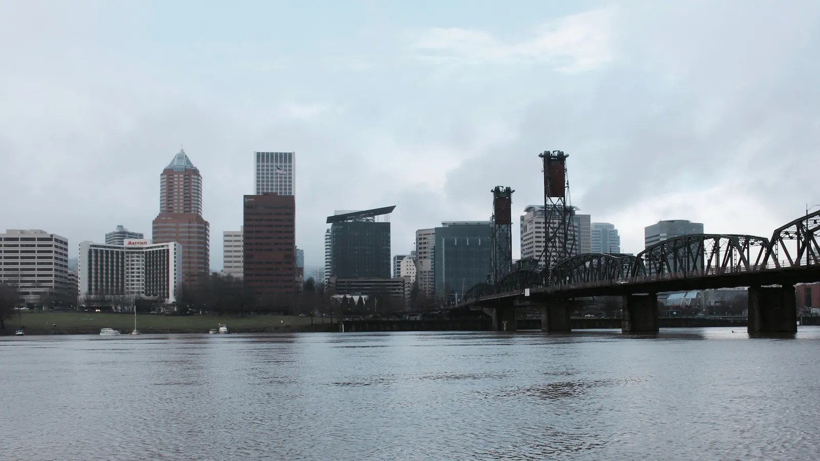 The downtown waterfront of Portland, Oregon
