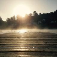 Mist over the dock