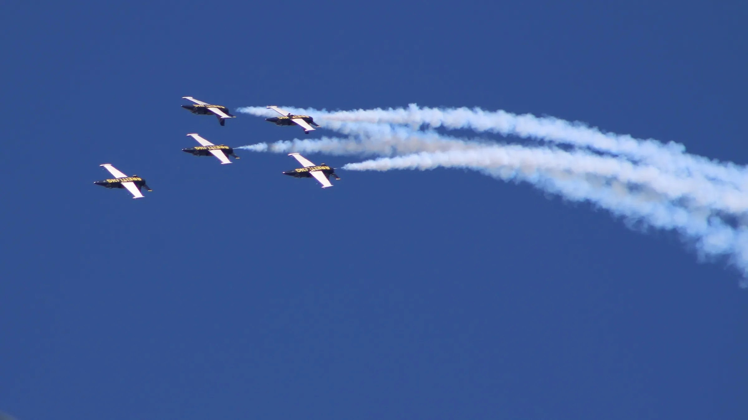 Breitling Jet Team over the backyard