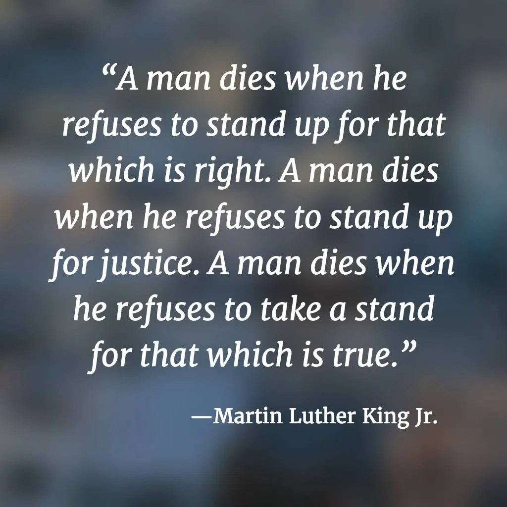 A man dies when he refuses to take a stand