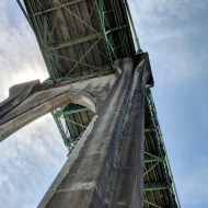 Looking up at St. Johns Bridge