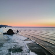 Haystack Rock at Cannon Beach by Jamison Logan