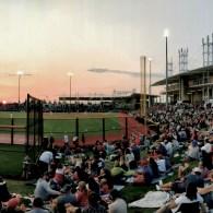 An evening at the baseball park is a good evening