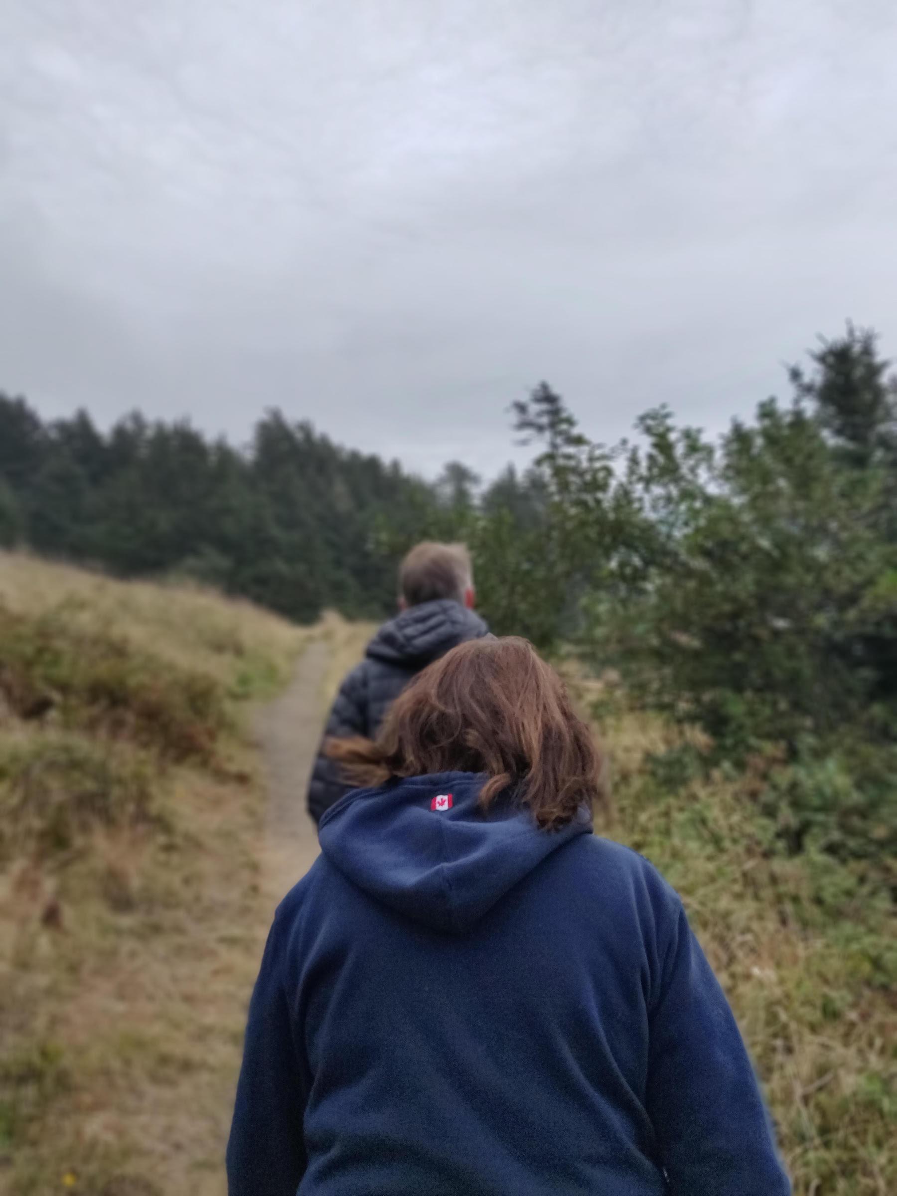 Suzi and me hiking near Ecola Point