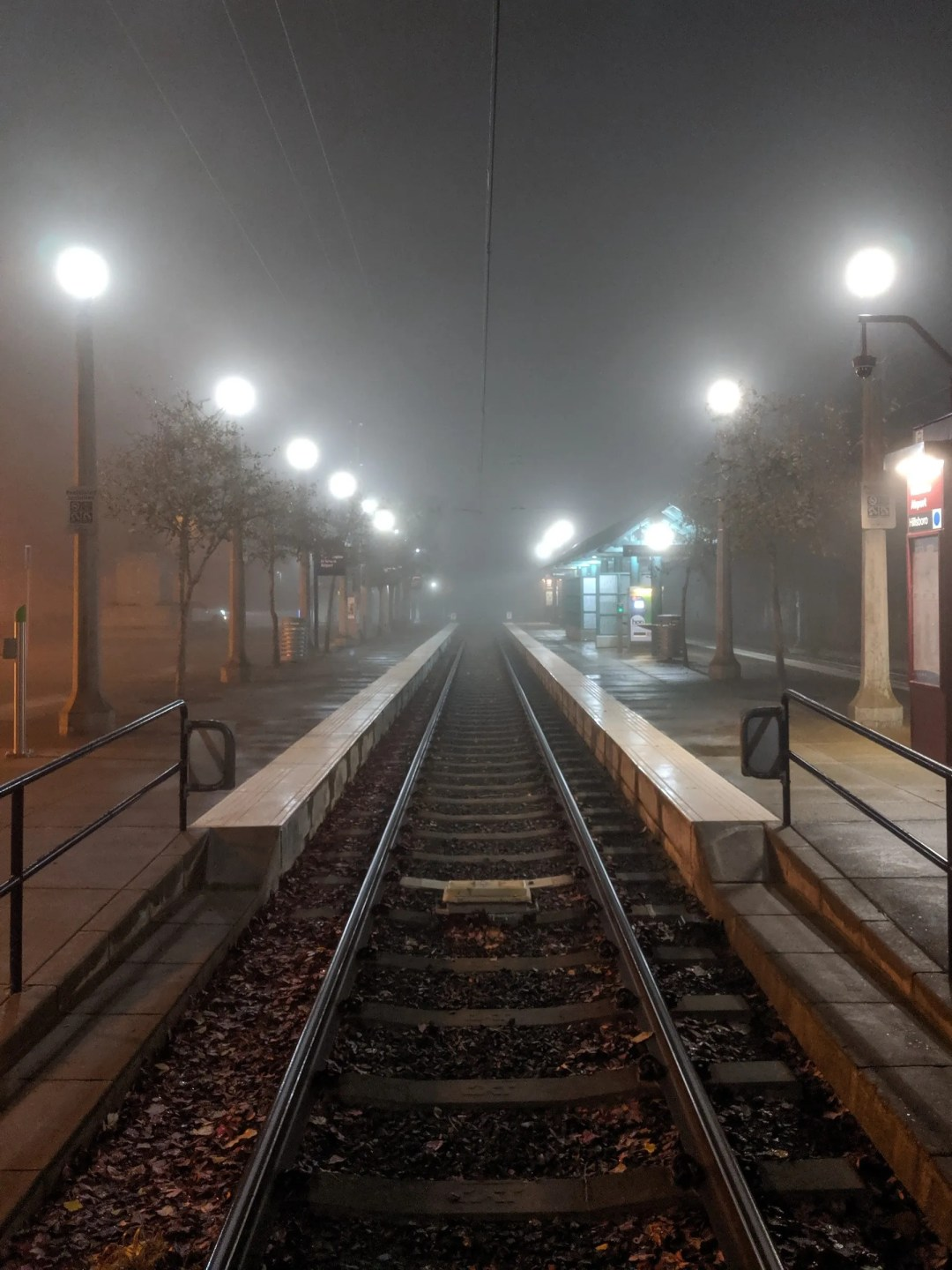MAX station in the fog