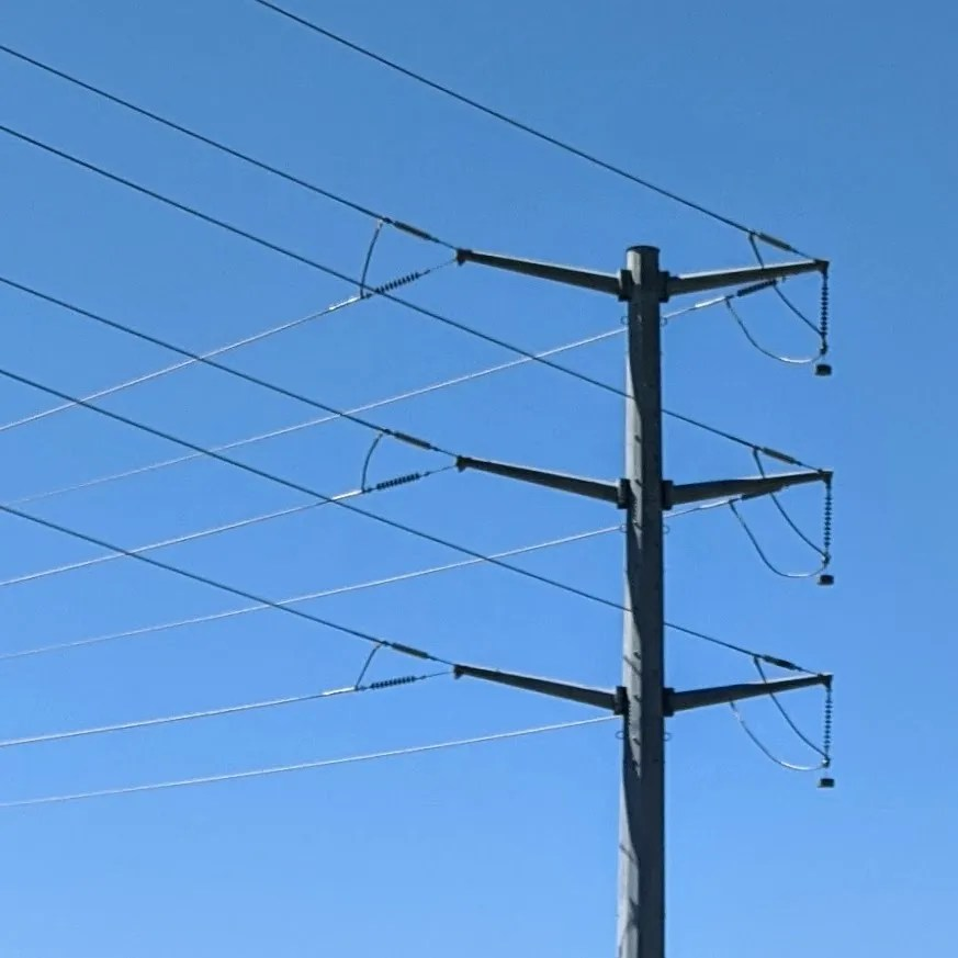 High tension power pole