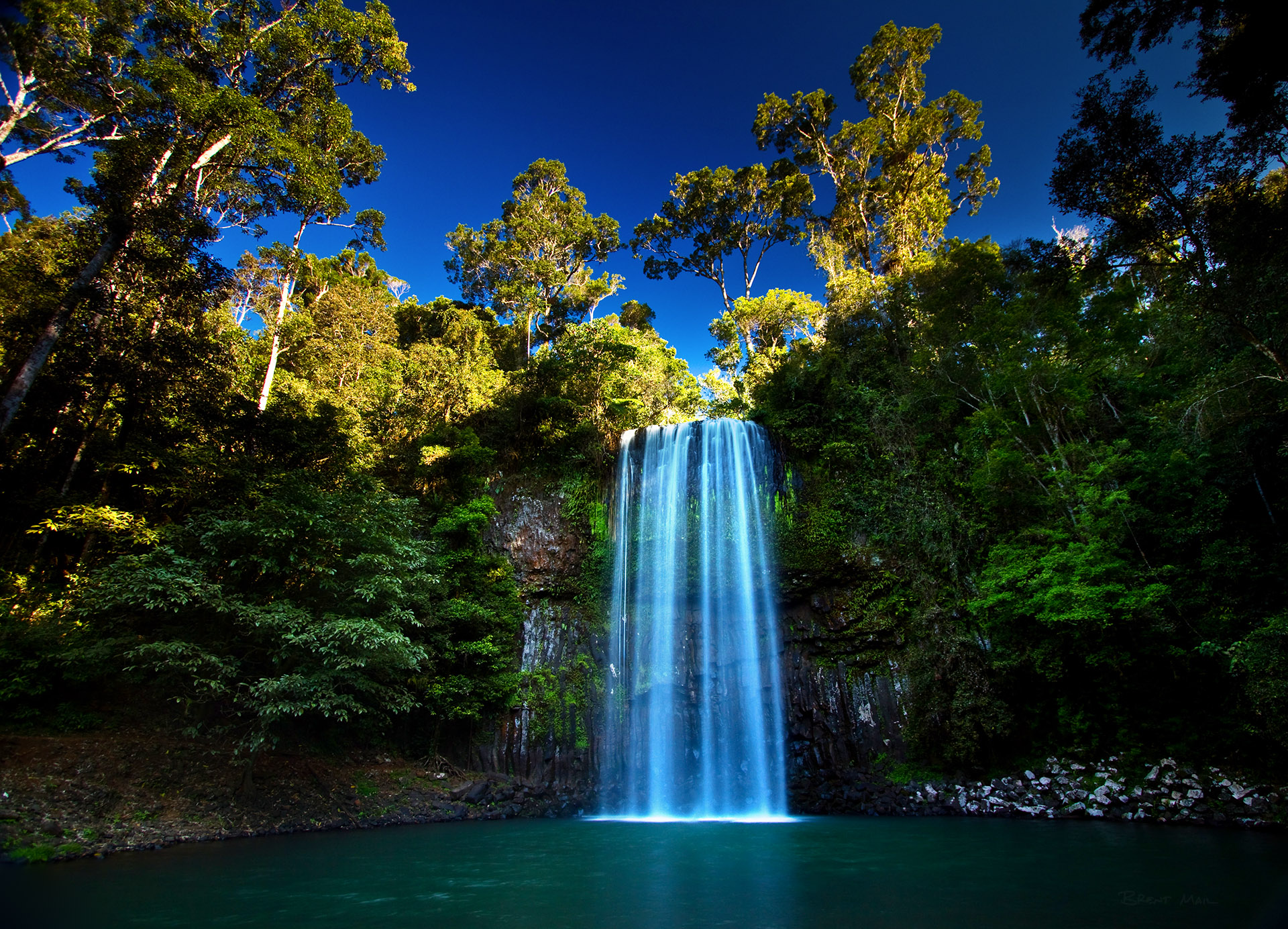 Falling Water Live Wallpaper Tropical Queensland Brent Mail Photography