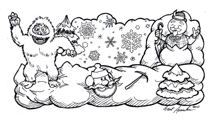 Calvin & Hobbes and the Snowmen