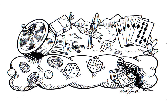 Gambling pictures drawing