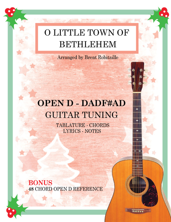 Open-D-Guitar-Tuning-O-Little-Town-of-Bethlehem-Christmas-Cover