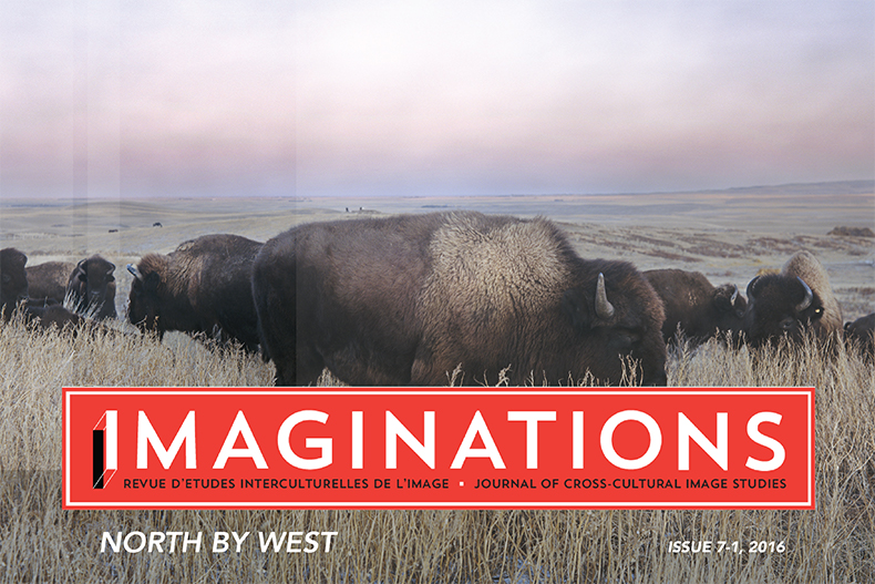 Imaginations Cover North By West, Bison graze in a large plain