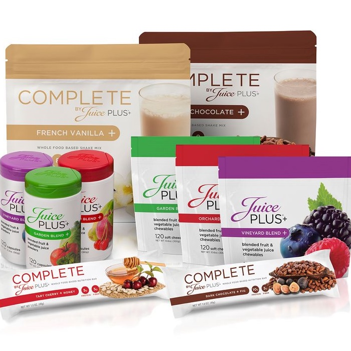 Juice Plus+® Concentrated Food Capsules • Complete Shakes • Meal Replacement Bars