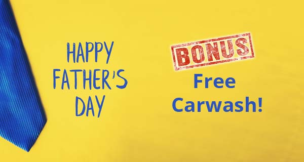 Free Carwash with Every Father's Day Trip
