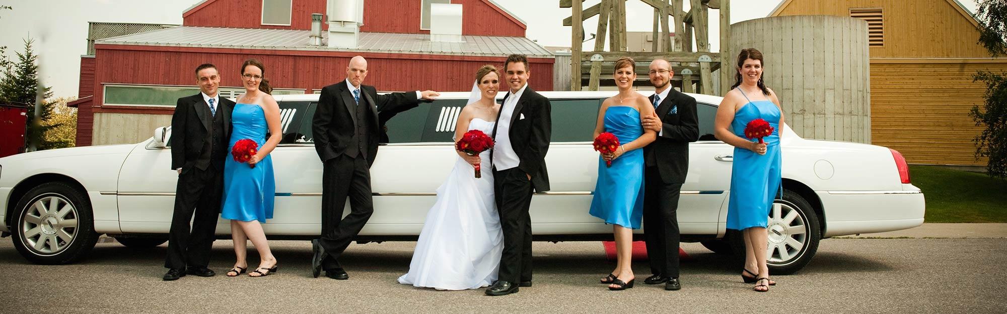 Wedding White Limousine