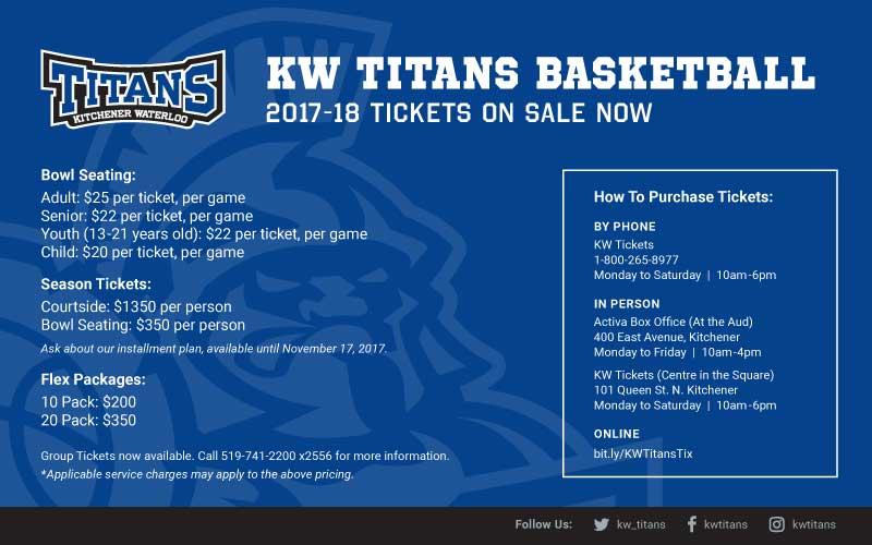 KW Titans Basketball Ticket Information