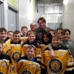 Wayne Gretzky surprised the Waterloo Wolves Atom MD White team in Brantford