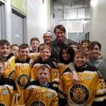 Wayne Gretzky surprised the Waterloo Wolves Atom MD White team in Brantford