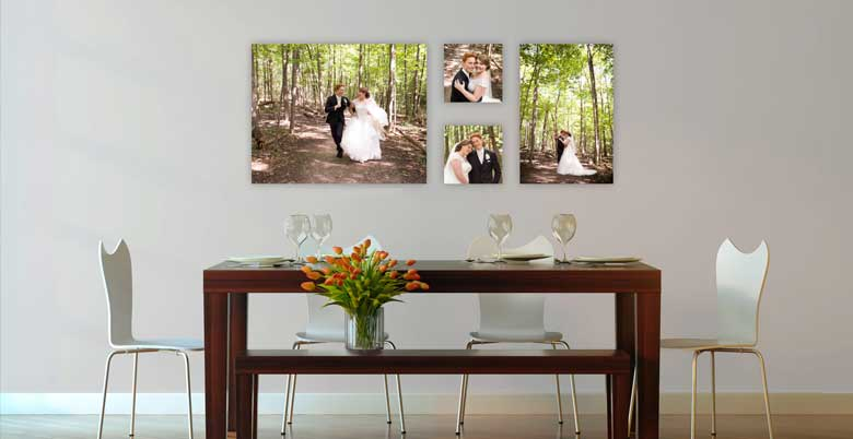 The best ways to display your wedding images