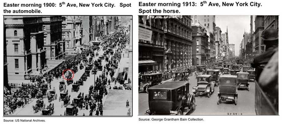 5th Avenue, 1900 Vs. 1913