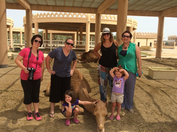 Group photo with the camels.