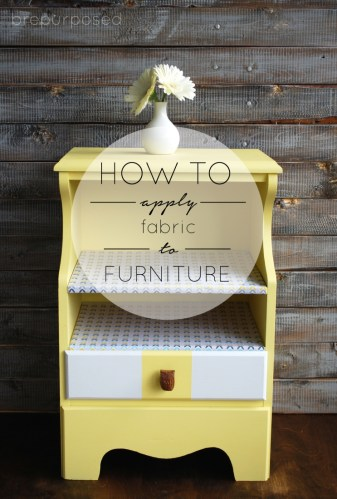 How to Apply Fabric to Furniture