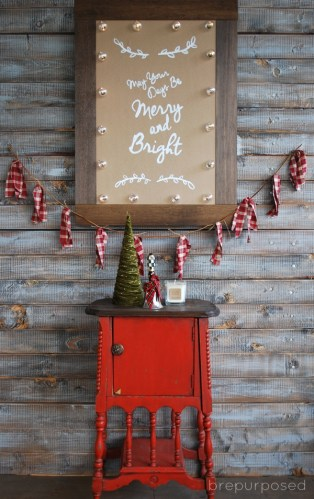 Christmas Marquee Sign :: Monthly DIY Challenge