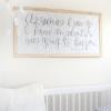 DIY Nursery Art Quote