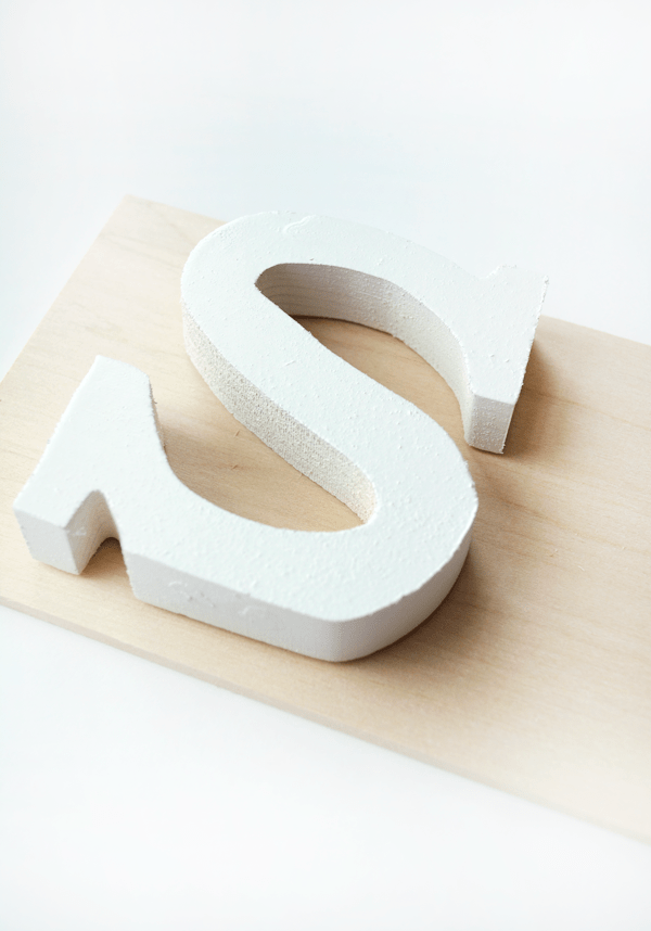 Create this sentimental DIY Wooden Letter Art for your baby's nursery!