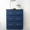 Modern Navy Nightstand Makeover