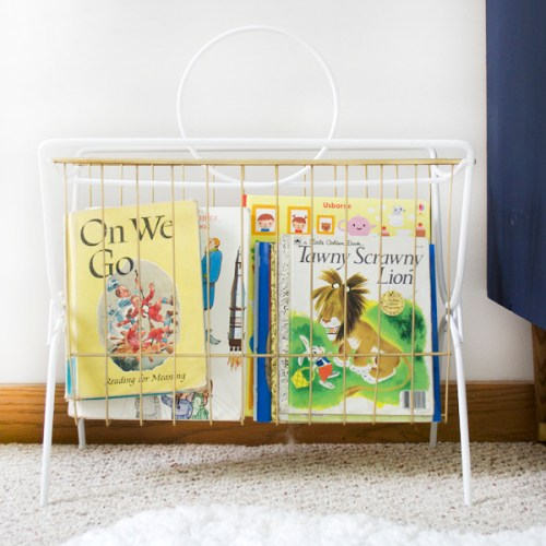 Vintage Book Holder for the Nursery
