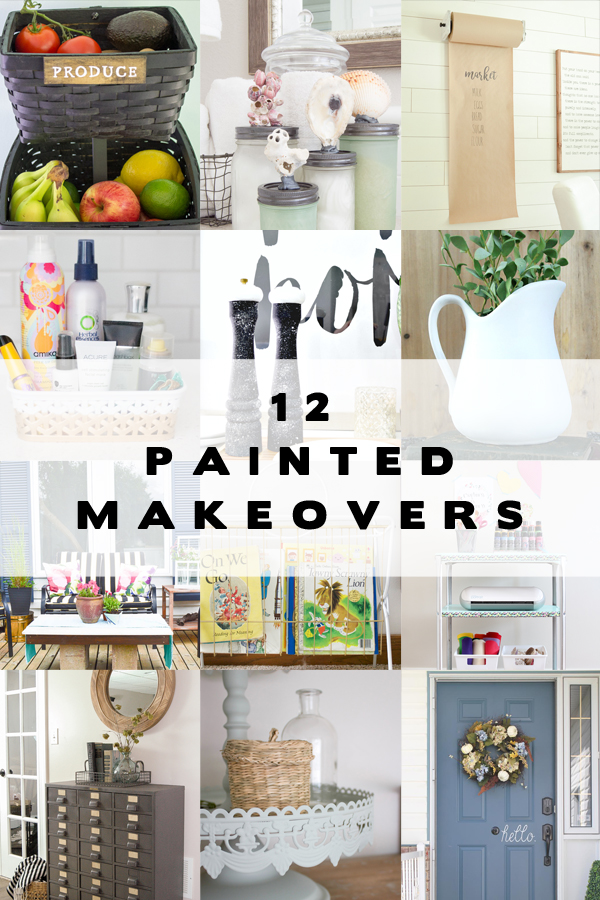 12 Upcycled Items get a makeover using paint inside Homeright's Spray Shelter
