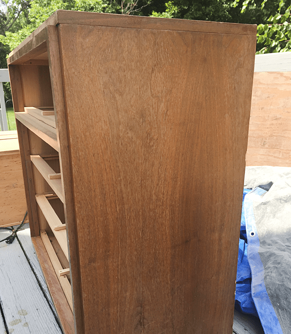 Don't let a scraped up veneer dresser scare you. Refinishing it isn't as hard as it seems!