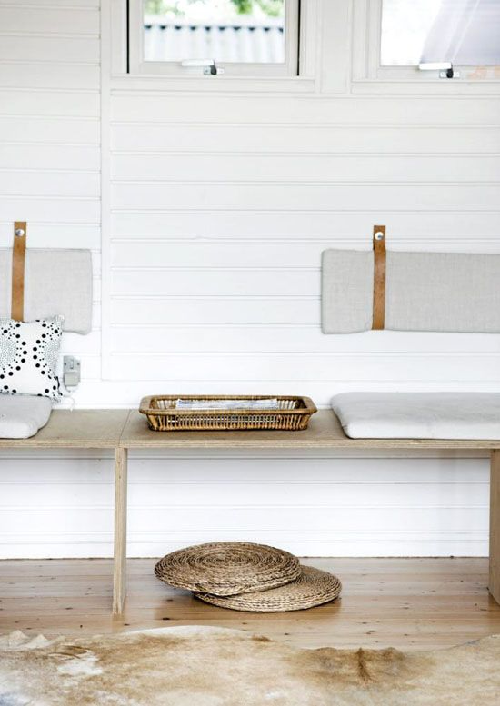 A round up of mudroom bench inspiration for the modern day home!