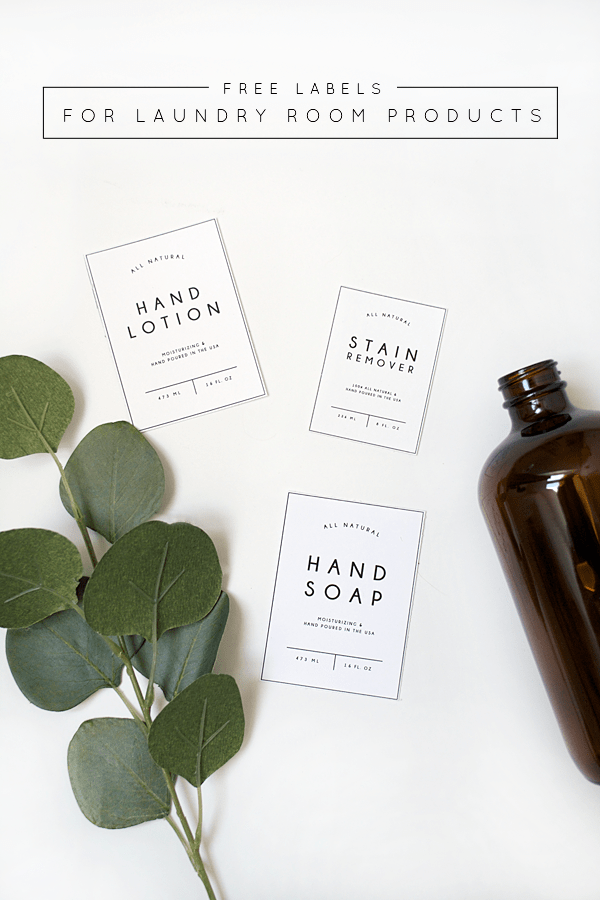 Free Printable Labels for Laundry Room Products