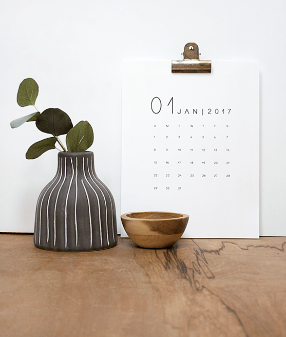 2017 FREE Printable Calendar in TWO sizes!
