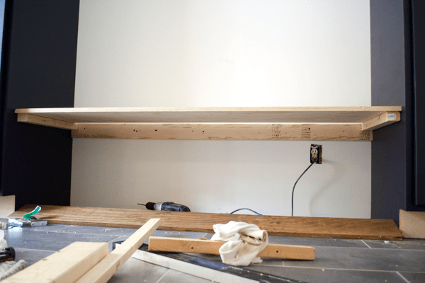 2x4 supports under floating bench