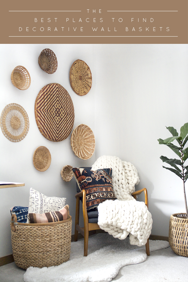 A round up of The Best Places to Find Decorative Wall Baskets to give your space a boho look