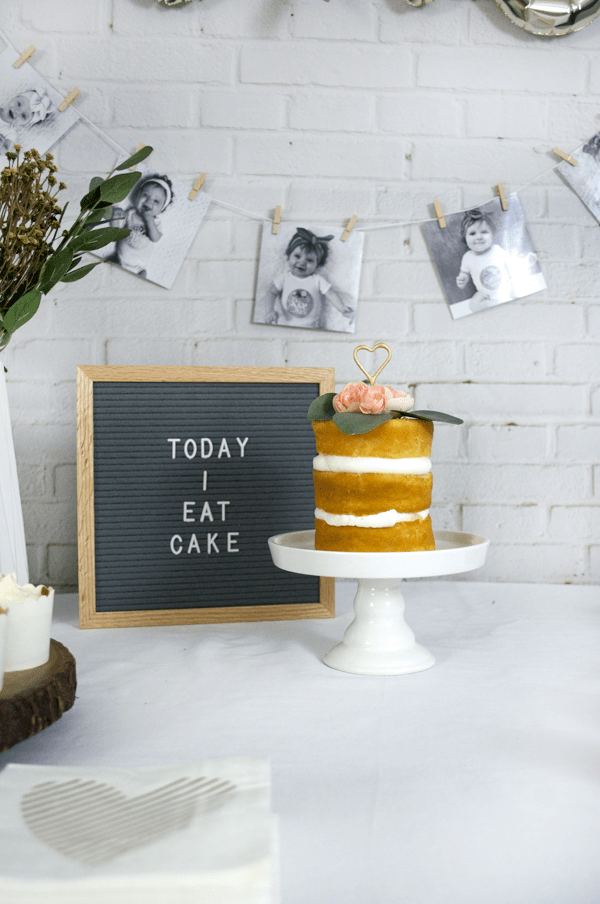 letterboard at baby's first birthday