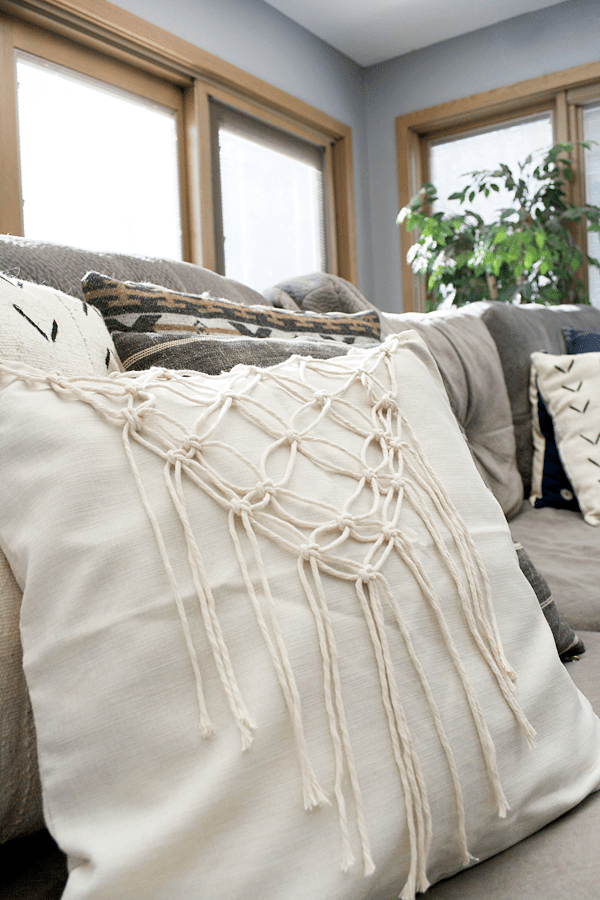 DIY Macrame Pillow