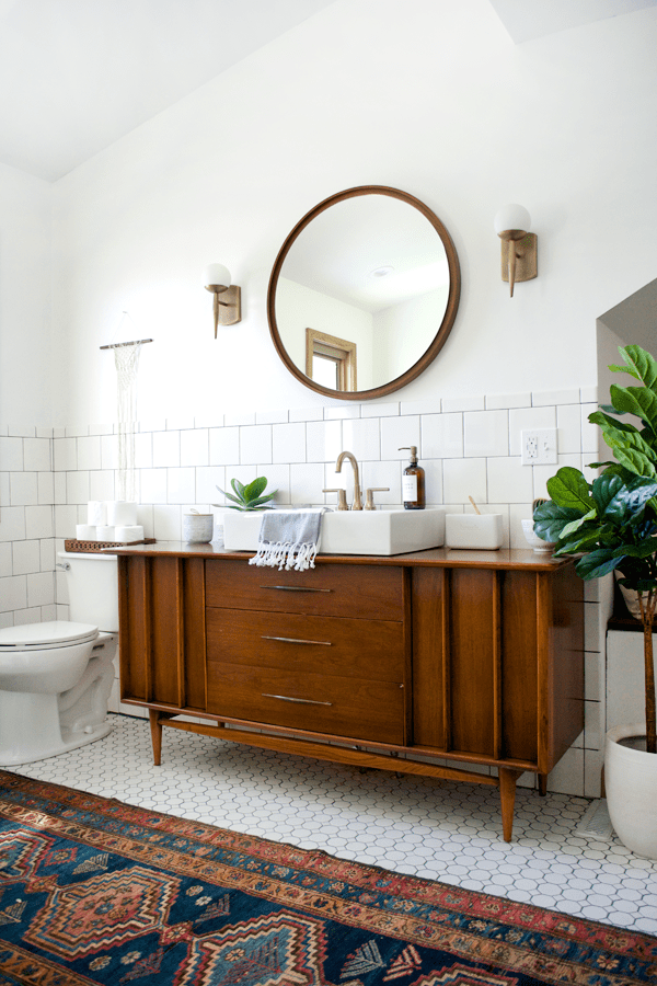 Interior Vintage Bathroom modern vintage bathroom reveal brepurposed makeover