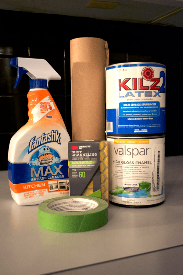 supplies needed to Paint a Tile Backsplash