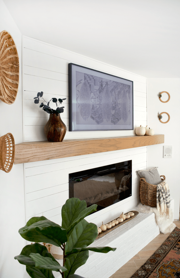 a modern fall mantle