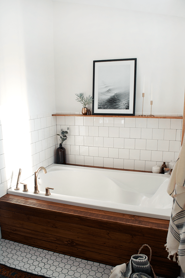 Stylish and Functional Fixtures in a Modern Vintage Bathroom ...